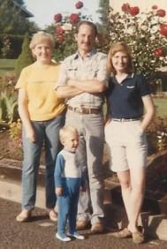 Jerrie, Mark, Karen with Christopher (2) 1984 trip to Washington