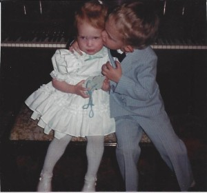 Katie and Christopher, Easter 1986