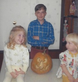 Mark (13) with his sisters Karen (3), Jerrie (2)