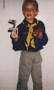 1991 Pinewood Derby  1st place trophy
