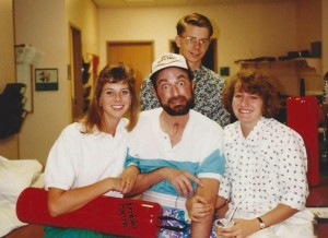 1992 - Mark with his Therapist at Western Rehab