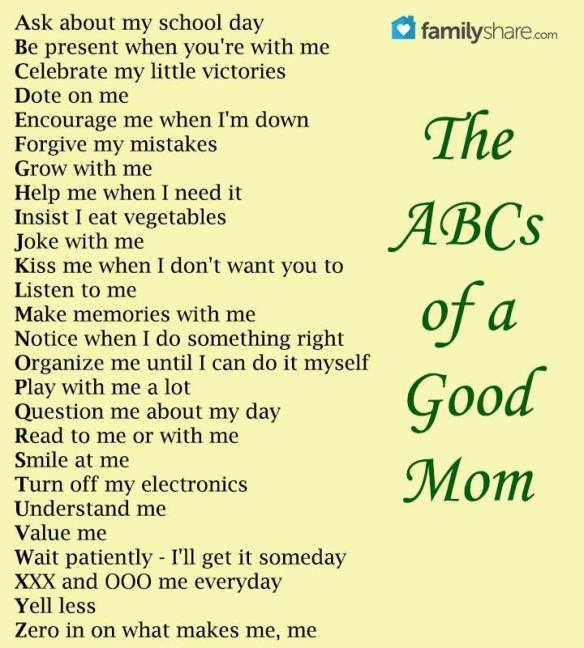 ABC's of a Good Mom