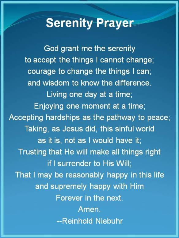 Serenity Prayer 1
