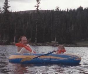 1987- Mark and Katie Rafting at Mirror Lake