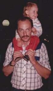 1986 - Mark carrying Katie