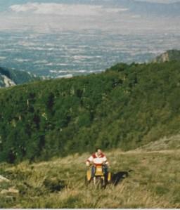 1990- Mark climbing Mt. Air