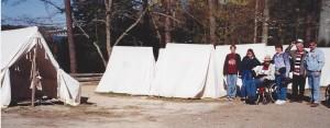 Washington soldiers tents at Yorktown