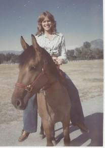 1973 - Riding Ginger bareback