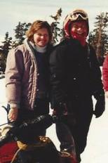Dad & I Snowmobiling