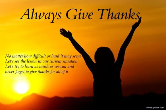 Giving Thanks Always