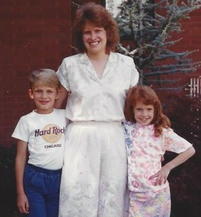 June 1991, first picture after the accident with the kids.
